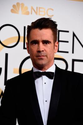Actor Colin Farrell arrives at the 74th annual Golden Globe Awards