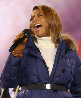 Queen Latifah performs during the Pepsi Super Bowl XLVIII Pregame Show at MetLife Stadium on February 2, 2014 in East Rutherford, New Jersey.