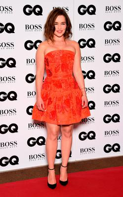 Emilia Clarke  attends the GQ Men Of The Year Awards at The Royal Opera House
