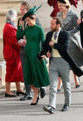 Pippa and James Matthews arrive for the wedding of Princess Eugenie to Jack Brooksbank at St George's Chapel in Windsor Castle, Windsor, Britain, October 12, 2018. Andrew Matthews/Pool via REUTERS