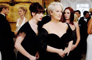 Anne Hathaway (pictured with Meryl Streep) in The Devil Wears Prada