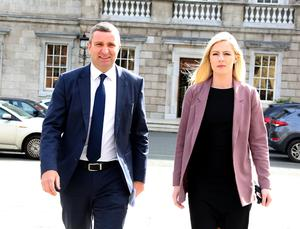 At centre of controversy: Lisa Chambers and Niall Collins. Photo: Tom Burke
