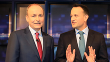 Spot the difference: Micheál Martin and Leo Varadkar refuse to accept their parties are carbon copies of each other. Photo: Frank McGrath