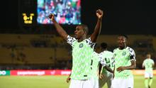 FILE PHOTO: New Manchester Uniter striker Odion Ighalo celebrates scoring for Nigeria against Tunisa at the 2019 Africa Cup of Nations.  REUTERS/Sumaya Hisham/File Photo