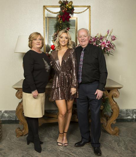 Laura with her mum, Aileen, and her dad, Brian