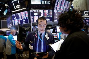 Traders at the New York Stock Exchange last week