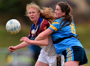 Galway's Louise Ward and her twin sister Nicola hit the headlines when they played against each other in the 2016 O'Connor Cup final. Photo: Sportsfile
