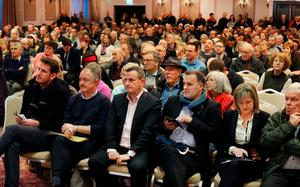 More than 650 people attended a meeting in Clontarf Castle last night about the controversial development. Photo: Steve Humphreys