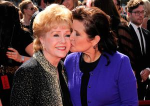 Carrie Fisher with her mother Debbie Reynolds. Photo: AP
