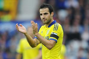 Cesc Fabregas during the match between Everton and Chelsea