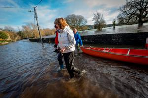 The Tanaiste walks away from the boat