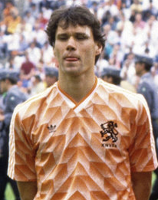 People made a rivalry between us but there wasn't one. Van Basten is the best ever. Photo: VI Images via Getty Images