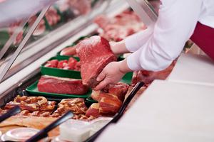 Coolanowle Food Hall sells organic meat from the Mulhall Family's farm on the Carlow/Laois border (stock photo)