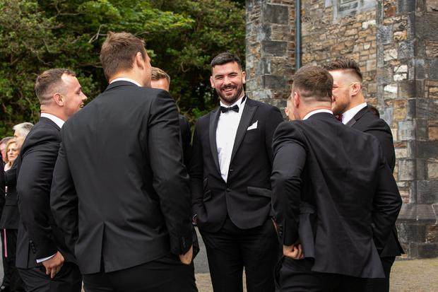 Mick Kearney and guests at at Laura Smith and Cian Healy's wedding in Galway. Picture: Andy Newman