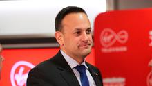 Fine Gael leader, Taoiseach Leo Varadkar, during a seven way leaders General Election debate at the Virgin Media Studios in Dublin, Ireland. PA Photo. Picture date: Thursday January 30, 2020. Photo credit should read: Niall Carson/PA Wire