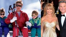 Princess Diana with sons William and Harry in 1991 (left) and Goldie Hawn and Kurt Russell