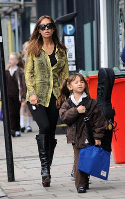 LONDON, UNITED KINGDOM - SEPTEMBER 19: Myleene Klass pictured on the school run on September 19, 2013 in London, England. (Photo by SAV/FilmMagic)