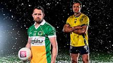 Shane Williams and Michael Murphy in a promotion shot for The Toughest Trade. Photo: Ramsey Cardy/Sportsfile