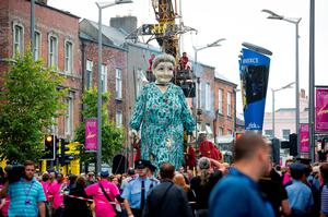 Limerick City of Culture 2014: Headline event of the year, 'Royal de Luxe' - The Giant's Journey - arrives for three days into the city.  Photo credit: Sean Curtin, Fusionshooters.
