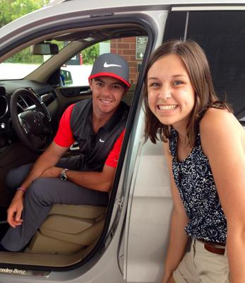 '#1 golfer in world takes time to pose at gas station with my daughter, very nice. #PGAChamp @PGATOUR @CBSSports,' tweeted Timothy Campbell