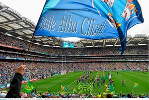 20 September 2015; A view of the pre-match parade. GAA Football All-Ireland Senior Championship Final, Dublin v Kerry, Croke Park, Dublin. Picture credit: Ramsey Cardy / SPORTSFILE