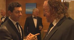 Rory McIlroy and Miguel Angel Jimenez