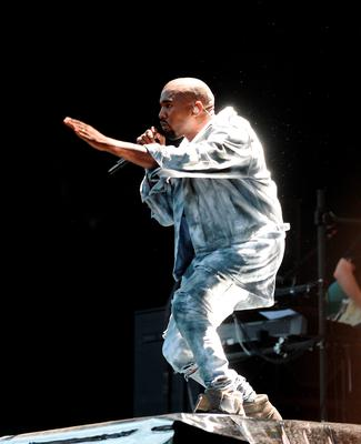 2 Jul 2014; Kanye West performing in Marlay Park, Dublin. Picture: Caroline Quinn