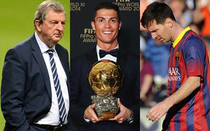 Floating voters: Roy Hodgson was not alone with his assessement of Javier Mascherano as best player in the world, while Cristiano Ronaldo and Lionel Messi did not vote for each other