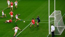Mark Collins of Cork shoots to score his side's fifth goal
