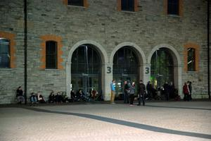 U2 fans queue outside the 3 Arena for tickets for U2's upcoming gigs in the 3 Arena, which go on sale at 9am on Monday morning