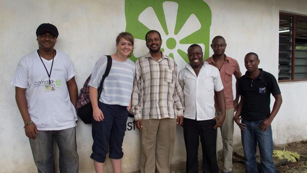 The Camara team pictured with Camara Kenya CEO Masoud Ali (third from left) at the 'Hub' in Mombasa (Photo: Denise Calnan)