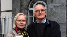 Eileen Sheehan, sister of Sean Barrett, who died in Limerick Prison; and Sean Barrett, father of the deceased man. Picture: Brendan Gleeson