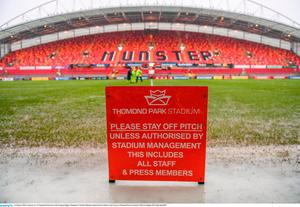 21 January 2018; A general view of Thomond Park prior to the European Rugby Champions Cup Pool 4 Round 6 match between Munster and Castres at Thomond Park in Limerick. Photo by Stephen McCarthy/Sportsfile