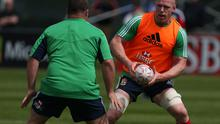 Paul O'Connell during a training session at Carton House, Dublin, Ireland.  Niall Carson/PA Wire.