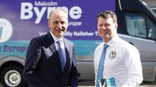 Energetic: Malcolm Byrne (right) campaigned well in the European vote. Photo: Conor McCabe Photography.