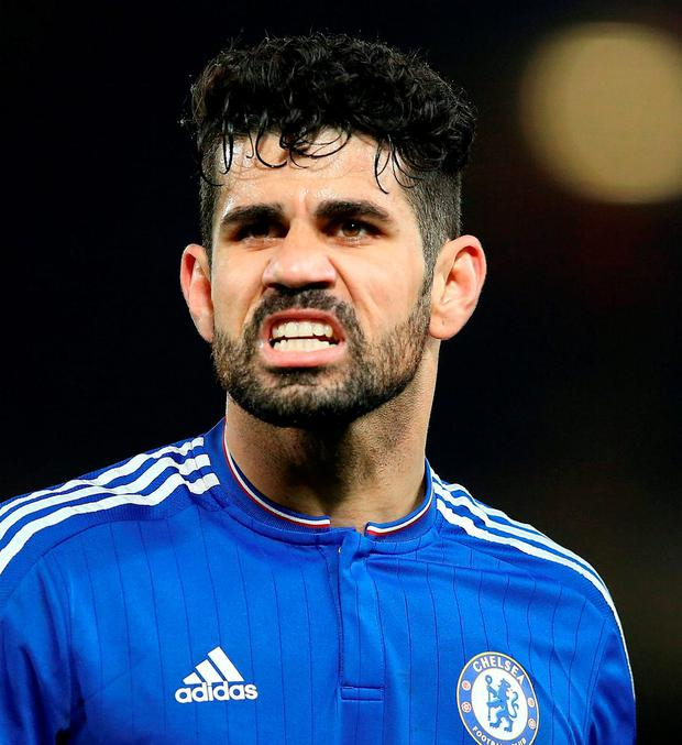 'Paris St-Germain have been sounded out over Costa(right) but it is clubs in the Chinese Super League who have signalled their willingness to spend more than £70m to take him to Asia.' Photo: PA