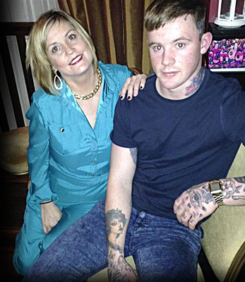 Murdered Zach Parker and his mum Siobhan in happy times