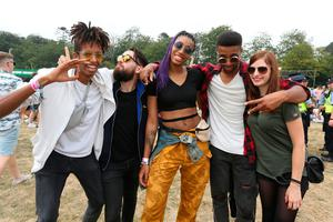 13-07-18  Longitude Festival Marlay Park Pictured: Simon Tamyalew, Martin Millan, Ama Degbeon, Sehnou Degbeon and Livia Stoeckel all fro Germany PICTURE: Bryan Brophy / Collins Agency