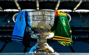 A view of the Sam Maguire Cup at Croke Park ahead of the 2015 GAA Football All-Ireland Senior Championship Final between Dublin and Kerry. Croke Park, Dublin. Picture credit: Ramsey Cardy / SPORTSFILE