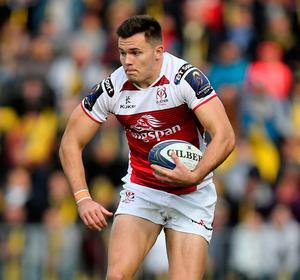 Jacob Stockdale's form has been one of the few positives for Ulster. Photo: John Dickson/Sportsfile