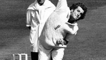 File photo dated 03-06-1983 of England and Warwickshire fast bowler Bob Willis watched by umpire Bill Alley PRESS ASSOCIATION Photo. Issue date: Wednesday December 4, 2019. Former England captain and cricket pundit Bob Willis has died at the age of 70, Sky Sports has announced. See PA story CRICKET Willis. Photo credit should read: PA/PA Wire.