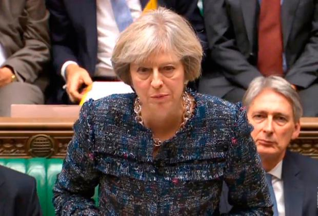 Prime Minister Theresa May speaks during Prime Minister's Questions in the House of Commons, London. Photo: PA Wire