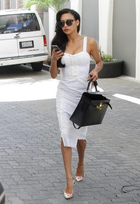 Naya Rivera is seen on August 13, 2014 in Los Angeles, California.  (Photo by Bauer-Griffin/GC Images)