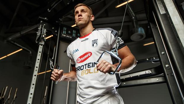 Dublin defender Jonny Cooper at the launch of Avonmore Protein Gold chocolate milk in Dublin yesterday. Photo: INPHO/James Crombie