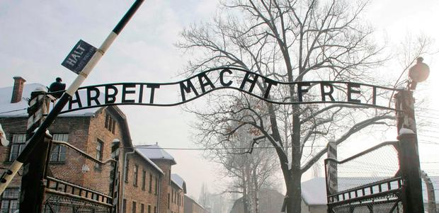 The gates of Auschwitz death camp. REUTERS/Kacper Pempel
