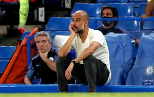 Pep Guardiola's men could not make Liverpool wait longer for the title (Paul Childs/NMC Pool)