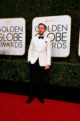 Actor Ryan Gosling arrives at the 74th annual Golden Globe Awards, January 8, 2017, at the Beverly Hilton Hotel