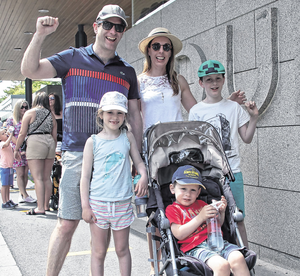 Robert and Gillian Gunning with their children, Tommy (9), Julia (7) and Paul (3)