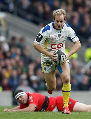 Clermont's fullback Nick Abendanon on his way to scoring a try during the European Rugby Champions Cup rugby union final match against Toulon at Twickenham