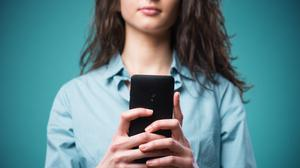 New norm: Many girls now see receiving graphic images via text from a boy as just another part of life. Picture posed
